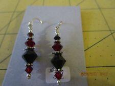 SWAROVSKI crystal beads bead beaded hook dangle earrings d