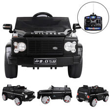 Black Electric 12V Kids Ride On Car Battery Led Light Remote Control Mp3