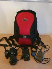 Sony Alpha A300 10.2MP DSLR Camera + 2 Lenses / backpack