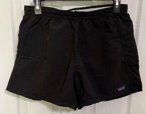 PATAGONIA Womens Athletic Gym Workout Baggies Shorts Black ~ Size M