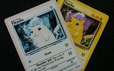 """ALBINO"" Pikachu 58/102 Base Set - NM - Misprint - Altered Art - Ghost Rare"