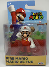 "Jakks Fire Mario Figure NEW ""2.5"" Super Mario Brothers World Of Nintendo"