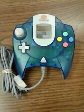Official OEM Clear Blue Sega Dreamcast Controller HKT-7700 Working And Tested