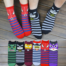 Fashion Cartoon Women Man Super Hero Batman Cotton Soft Ankle Socks Multi-Color