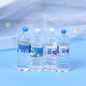 10pcs Mini Mineral Water Bottle 1:12 Dollhouse Miniature Accessory Drinking *BI