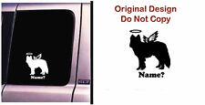 Dog Memorial Alaskan Malamute Husky Angel Decal Sticker