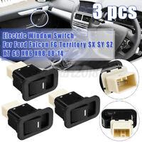 3x/Set Illumination Single Window Switch 6 Pins For Ford Falcon FG XT G6 XR6 XR8