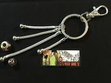 ✿ BRIGHT SILVER KEYRING OR HANDBAG CHARM -JUST ADD YOUR EUROPEAN BEADS & CHARMS✿