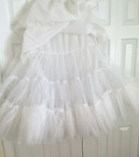 Petticoat Hoopskirt Full Slip Adult Med 3 Layer Sweetheart Slip Nylon Long Bride
