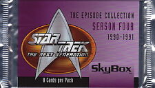 STAR TREK The Next Generation - Episodes Season 4 Trading Card Packs (19) #NEW