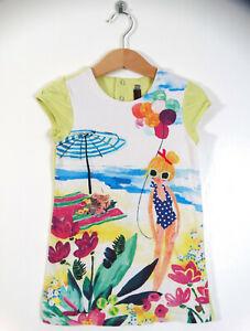 Catimini Designer Little Girls Summer T-Shirt Dress Age 18-24 Months Size 2