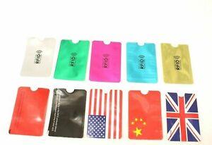 10x RFID Blocking Sleeve Debit/Credit Card Protector Holder ID Anti Theft UK Mix