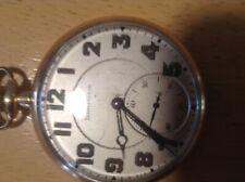 filled openfaced pocket watch Burlington 21 jewel gold