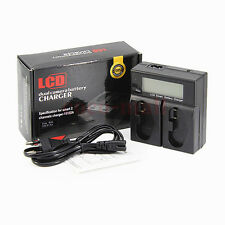 New LP-E4 Dual LCD Charger For Canon EOS-1Ds Mark Ⅲ IV 1DX 1Ds3 1D3 1D4