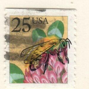 US EFO Scott #2281 25c Bee major ink shift used!!