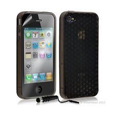 Housse étui coque en gel transparent pour Apple Iphone 4/4S motif damier couleur