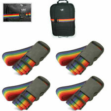 New 4 Travel Luggage Suitcase Strap Baggage Backpack Bag Rainbow Color Belt !