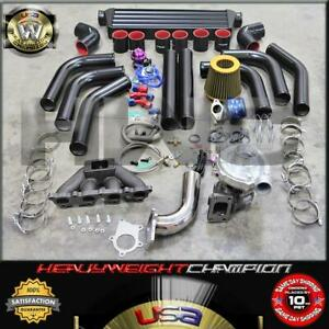 02-06 Acura RSX DC5 Civic EP3 K20A K20Z Turbo Charger Kit T3T4+Intercooler+Bov