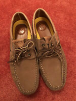 Mens Leather HELMSMAN Fashion Comfy Cosy Trendy Moccasin Loafers Deck Shoes 7-12