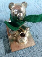VINTAGE SILVER PLATED WINNIE THE POOH WITH HONEY POT FIGURINE