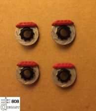 1:24 Racing Rotors w/Red Calipers (Set of 4) - Perfect for Diecast Cars/Dioramas