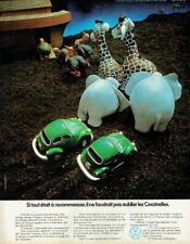 Publicité Advertising 1120  1972  Coccinelle vw Volkswagen l'Arche de Noé 161120