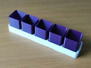 Plastic Seedling Pot Glitter Purple With White Base