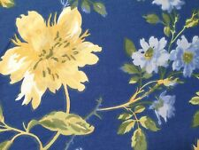 LAURA ASHLEY EMILIE 2PC TWIN DUVET COVER SET Blue Yellow Green Floral