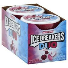 Ice Breakers Sugar Free Duo Mints, Strawberry Fruit and Cool ( Pack of 8 )