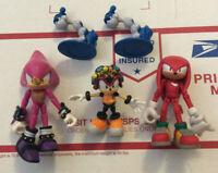 "Jazwares 3"" Inch Sonic Hedgehog Lot 3 Team Chaotix Espio Charmy Knuckles"