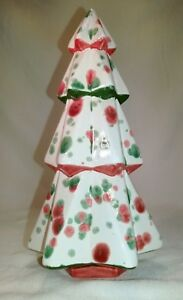 """7.5"""" Ceramic Mayco Faceted Christmas Tree"""