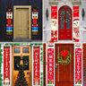Christmas Banner Door Windows Hanging Decor Porch Sign Xmas Home Ornaments AU