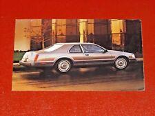 NOS 1986 Lincoln MK VII Mark dealership promotional advertising post card