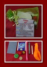 Birthday 16th Sixteen Novelty Survival Kit Gift Present Organza Bag Fun Card