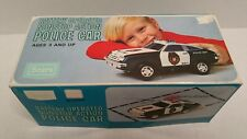 Vintage Sears Battery Operated Nonstop Action Police Car Chevrolet Monza New HTF