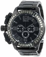 NEW MARC ECKO E25061G1 THE IRONSIDE OVERSIZED BLACK WATCH CRYSTALS