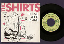 """7"""" THE SHIRTS TELL ME YOUR PLANS / CYRINDA SO LONG ITALY 1978 HARVEST LA MONICA"""
