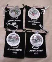 2008-2009-2011-2012 John Deere Pewter Christmas Ornament -- ALL NEW