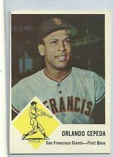 1963 Fleer Baseball Orlando Cepeda Card # 64 Ex-Mt Condition