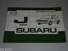 Betriebsanleitung Handbuch Subaru Justy J-Serie, Stand 10/1985