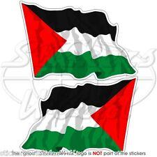 PALÄSTINA Wehende Flagge Palästinensischen Staat Fahne Sticker Aufkleber 12cm x2