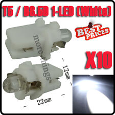 10X Gauge T5 coche LED Speedo Dashboard Dash cuña lateral Bombilla Blanca 12V