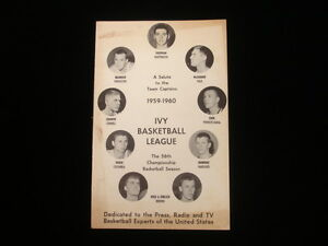 1959-1960 Ivy Basketball League Press Guide EX+