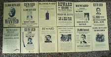 Billy The Kid, WILD WEST POSTERS, Novelty reproductions, SET E ,Butch Cassidy,