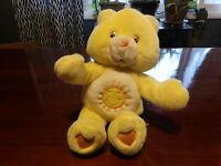 "VHTF 11"" Care Bears HUGGING Clapping Plush FUNSHINE Bear Arms Move (*11b)"