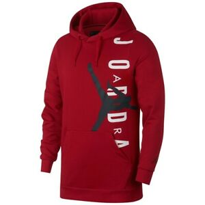 Nike Air Jordan Lifestyle Pullover Hoodie Men's Red / Black / White NEW