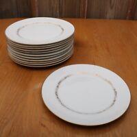 12 Mikasa Stanton 5405 Dinner Plates Gold Flowers