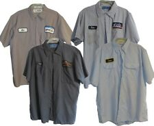 Lot of 4 Used Work Shirts XL Short Sleeve Various Colors, Brands Cintas Red Kap