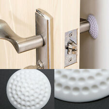 1PC Handle Door Lock Protective Silicone Pad Adhesive Wall Protection Mute Pad
