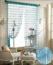 Dainty Home Chic Feather String Curtain, 40 by 84-Inch, Blue